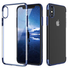 For Apple iPhone X/8/7 Plus Ultra-Thin Transparent Clear Shockproof Bumper Case