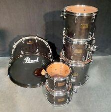 PEARL MMX Master Custom Series Drum Kit 6pc, Black Mist - FREE SHIPPING or P/U