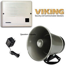 Viking Door Buzzer Speaker Ringer + PA Paging Horn Loud Speaker Bundle SR-1 25AE