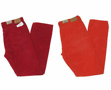 Polo Ralph Lauren Mens Varick Slim Straight Red Orange Corduroy Jeans Pants New