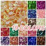 Paillettes Loose AB Wedding Craft 2000 pcs  6mm DIY Oval Round Cup Sequins