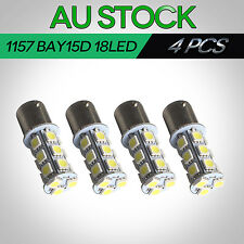 4x 1157 BAY15D 18 SMD LED Car Auto Tail Brake Stop Parking Light Bulbs 4WD UTE