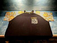 Coogi Men's 5XL Short Sleeve Black Graphic Sleeves T-Shirt w Pocket Biggie