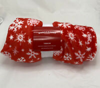 Holiday Snowflake Plush Throw Blanket Red - Wondershop™ - 50 x 60 in