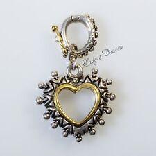HE Barbara Bixby Heart Enhancer Charm Sterling Silver18K Gold Pendant