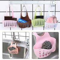 Kitchen Sink Sponge Holder Drain Hanging Strainer Organizer Rack Storage L0Z1