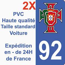 Sticker Autocollant immatriculation Département 92 Portugal FPF Haut de Seine