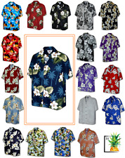ba77b5839563 Hibiscus Island Floral Beach Sunrise Tropical Aloha Shirt Made in Hawaii