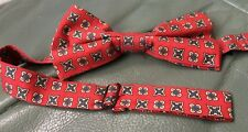 Mens Red Paisley Silk Bow Tie With Multi Colour Pattern From George