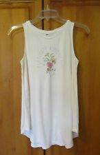 """Ivory Tunic Tank Top OLD NAVY """"Cultivate Kindness"""" Size XS"""