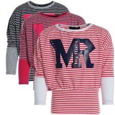 Gestreifte Mädchen-Tops, - T-Shirts & -Blusen mit Rundhals-Ausschnitt