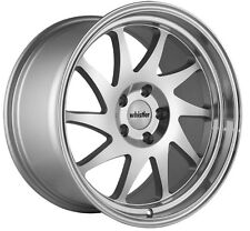 Whistler KR7 18x9.5 Rims 5x114.3mm +35 Silver Wheels Fits 350z G35 240sx Rx8 Rx7