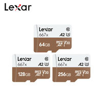 Lexar Professional 64GB 128GB 256GB 667x SDXC UHS-I Micro SD Card A2 U3 V30 C10