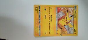 Rare 2021 Pokémon PIKACHU HOLOGRAM CARD McDonalds Happy Meal Toy
