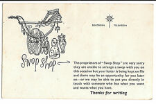 Southern Television Swop Shop 1950's Rejection Postcard, Unused, Ronald Searle