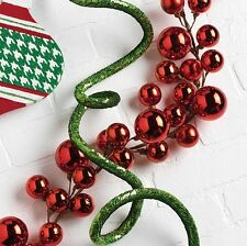 Garland w Red Ball Christmas Ornaments 4ft by RAZ rzchhh g3216179 NEW