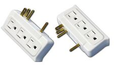 Side Entry / Sideways Current Tap / Power Strip - 6 Outlet Dual Sided