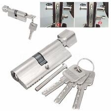70mm Home Aluminum Door Lock Cylinder Thumb Turn Hardware + 3 Security Keys