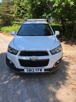 2013 Chevrolet Captiva 2.2 Litre Diesel VCDi 4x4 White SUV 7 Seater