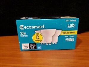 EcoSmart 35-Watt Equivalent 3-Pack GU10 Dimmable LED Light Bulb, Bright White