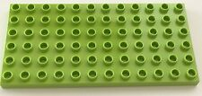 *NEW* 1 Piece Lego DUPLO 6X12 DOTS Plate LIME GREEN