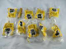 LOT OF 10 ~ NEW ~ WESTERN ENTERPRISES ~ BRASS HOSE SPLICER ROUND BARBS # 48