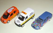 bundle 3 Norev diecast car model Renault Laguna Smarties Kangoo Assistance Modus