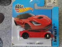 hot wheels 2013 #205/250 2014 Corvette Stingray rouge HW Salle d'exposition /