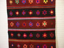 nr.418 Handgewebter VINTAGE Teppich KURDISTAN NOMADEN KILIM KELIM ca.382 x 150
