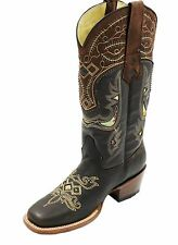 Ladies Cow Boy genuine leather boots Style 312R46