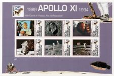 APOLLO XI Moon Landing Aldrin & Armstrong Space Stamp Sheet #1 (1994 Antigua)