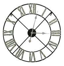 Industrial Style Medium 60cm Vintage Metal Aged Numerals Wall Clock
