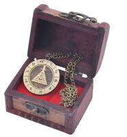 Gravity Falls Bill Cipher Necklace With Vintage Display Box Brozen Pendant