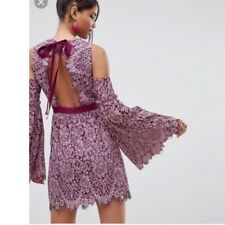 ASOS PURPLE BACKLESS DRESS