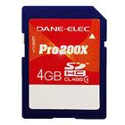 Dane-Elec 4GB Pro 200X Class 4 SDHC SD 4 GB Flash Memory Card - NEW Sealed