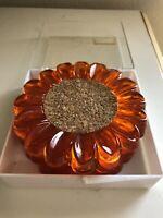 MCM Sunflower Coaster Set Wondermold Orange Set Of 4 Unbelievably Groovy