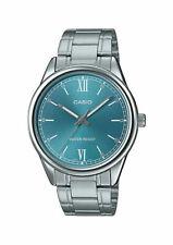 Casio MTP-V005D-3B Men's Standard Stainless Steel Aqua Blue Dial Watch WATER RES