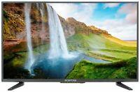 """LED HD TV 32"""" Inch Flat Screen HDTV Wall Mountable USB HDMI Class HD 720P Black"""