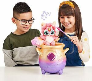 Magic Mixies Magical Misting Cauldron Pink Plush Toy & 50+ Sounds and Reactions