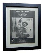 DEAN FRIEDMAN+Rocking Chair+POSTER AD+RARE+ORIGINAL+1978+FRAMED+FAST+GLOBAL SHIP