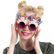Happy Birthday glasses,fun party glasses,cupcakes with candles party fun glasses