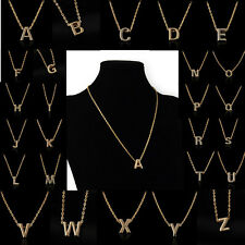 Women Fashion Gold Letter Name Initial Charm Chain Pendant Necklace Xmas Gift