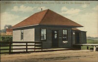 Groton & Stonington CT Trolley Waiting Room Station c1910 Postcard