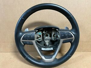 15 JEEP GRAND CHEROKEE LIMITED LEATHER WRAPPED STEERING WHEEL