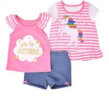 Unicorn Nanette Baby 3-pc. Short Set Toddler Girls - Size 4T