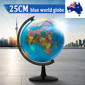 25cm Rotating World Earth Globe Atlas Map Geography Student Teacher Education AU