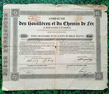 Dépt 03 & 75 - Montet aux Moines & Froidefond - Rare Mines & CDF du 11/09/1837