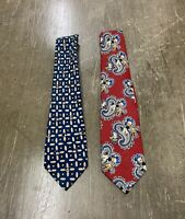 Lot Of 2 Vintage 90s Disney Mickey Mouse Ties by Mickey Inc