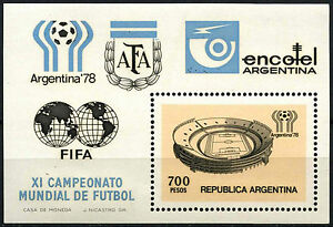 Argentina 1978 SG#MS1590 World Cup Football MNH M/S Sheet Cat £5 #C112