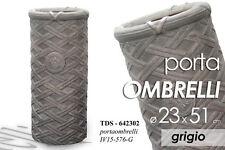 PORTA OMBRELLI DECORATO GRIGIO H51 CM TDS-642302